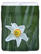 Narcissus In The Rain Duvet Cover