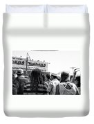 Nathan's Crowd In Coney Island 2 Duvet Cover