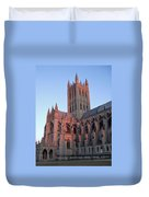 National Cathedral At Sunset Duvet Cover