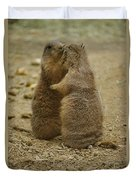 National Zoo 2 Prarie Dogs Sitting Duvet Cover