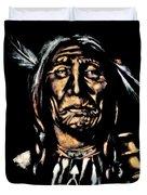Native American Elder Duvet Cover