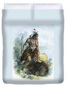Native American Hunter Duvet Cover