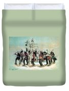 Native American Indian Snow-shoe Dance Duvet Cover