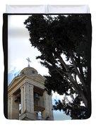 Nativity Church Tree Duvet Cover