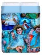 Nativity Scene Figures Duvet Cover