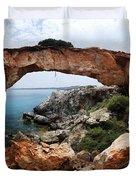 Natural Bridge - Cape Gkreko - Cyprus Duvet Cover