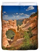 Natural Bridge In Bryce Canyon National Park Duvet Cover