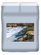 Natural Spring Waterfall Big River Duvet Cover
