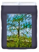 Nature's Church Windows  Duvet Cover