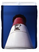 Nauset Beach Lighthouse Duvet Cover by Skip Willits