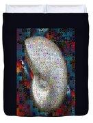 Nautilus Shell Mosaic Duvet Cover