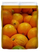 Navel Oranges Duvet Cover by Methune Hively