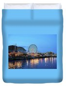 Navy Pier Chicago Digital Art Duvet Cover