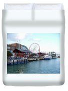 Navy Pier Chicago Summer Time Duvet Cover