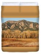 Ncar And Flatiron View Boulder Colorado   Duvet Cover