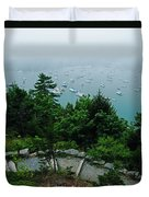 Ne Harbor Maine Seen From Thuya Gardens Mt Desert Island  Duvet Cover