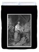 Neagle: Blacksmith, 1829 Duvet Cover
