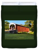 Neff's Mill Covered Bridge In Lancaster County Pa. Duvet Cover