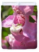 Nemesia Named Poetry Lavender Pink Duvet Cover