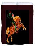 Neon Cowboy Las Vegas Duvet Cover by Garry Gay