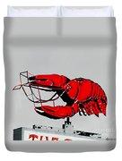 Neon Crawfish On Hwy 61 Baton Rouge Duvet Cover
