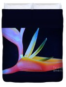 Neon Heliconia Duvet Cover