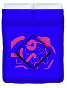 Neon Out Of Bounds Duvet Cover