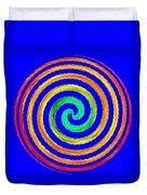 Neon Spiral Blue Duvet Cover