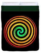 Neon Spiral Duvet Cover