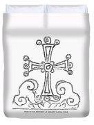 Nestorian Cross, 781 A.d Duvet Cover