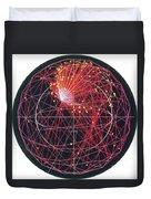 Neutrino Tracks Duvet Cover