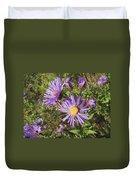 New England Aster Wildflower - Purple Duvet Cover