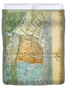 New England To Virginia, 1651 Duvet Cover by Photo Researchers