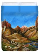 New Mexico Highlands In Spring Duvet Cover