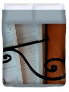 New Oleans White And Orange Duvet Cover