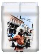 New Orleans Street Musician - Tuba Man Duvet Cover