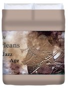 New Orleans The Jazz Age Duvet Cover