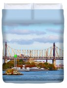New York Bridge Water View Duvet Cover