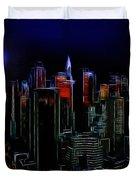 New York By Moonlight Duvet Cover