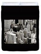 New York City From Above Duvet Cover