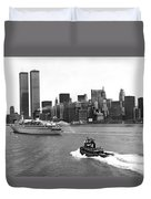 New York City Harbor Duvet Cover