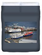 New York City Sightseeing Boats Duvet Cover