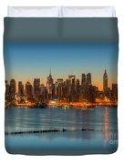 New York City Skyline Morning Twilight IIi Duvet Cover