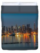 New York City Skyline Morning Twilight Xi Duvet Cover