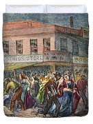 New York: Draft Riots 1863 Duvet Cover