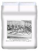 New York: Horse Race, 1845 Duvet Cover