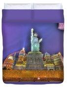 New York In Las Vegas Duvet Cover