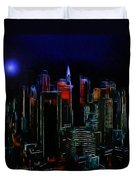 New York Midnight Duvet Cover