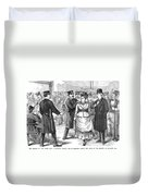 New York Police Raid, 1875 Duvet Cover