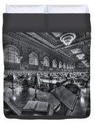 New York Public Library Main Reading Room Vi Duvet Cover